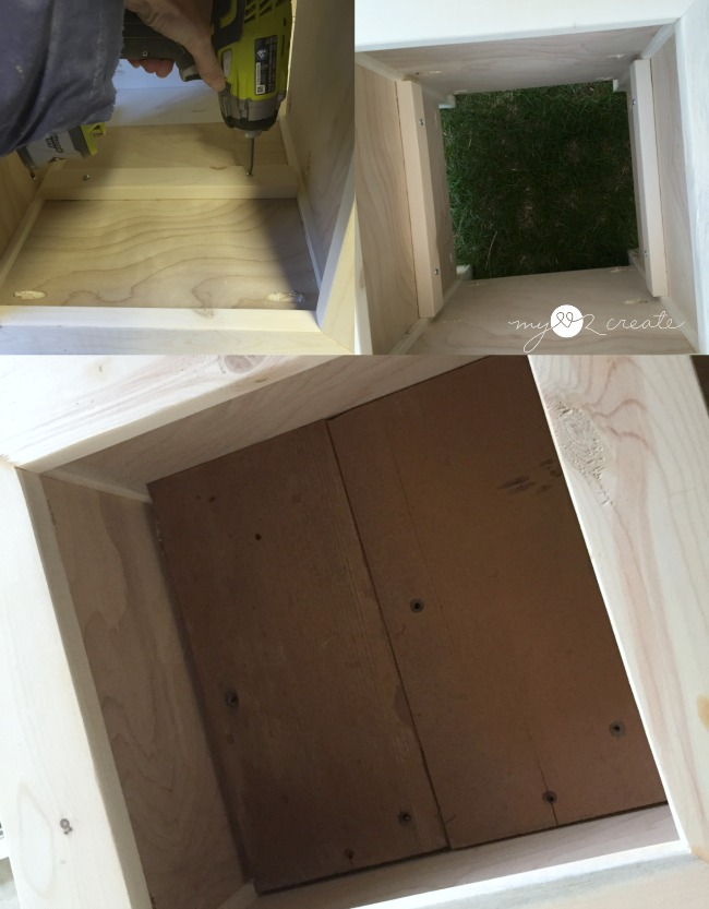 attaching planter box shelf