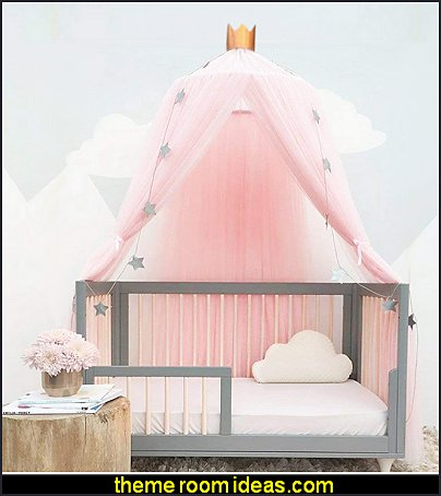 Round Dome Netting Curtains Mosquito Net Bed Canopy Play Tent  pink