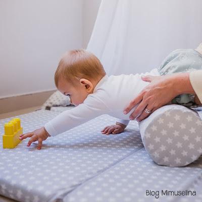 la importancia de gatear estimulación gateo rodillo rulo desenfundable gomaespuma