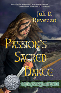 Passion's Sacred Dance, (Celtic Stewards Chronicles, book 1) by Juli D. Revezzo, Pagan Paranormal romance, fantasy romance, Borrow Free with Amazon Prime