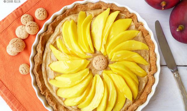 Crostata al mango e crema di amaretti