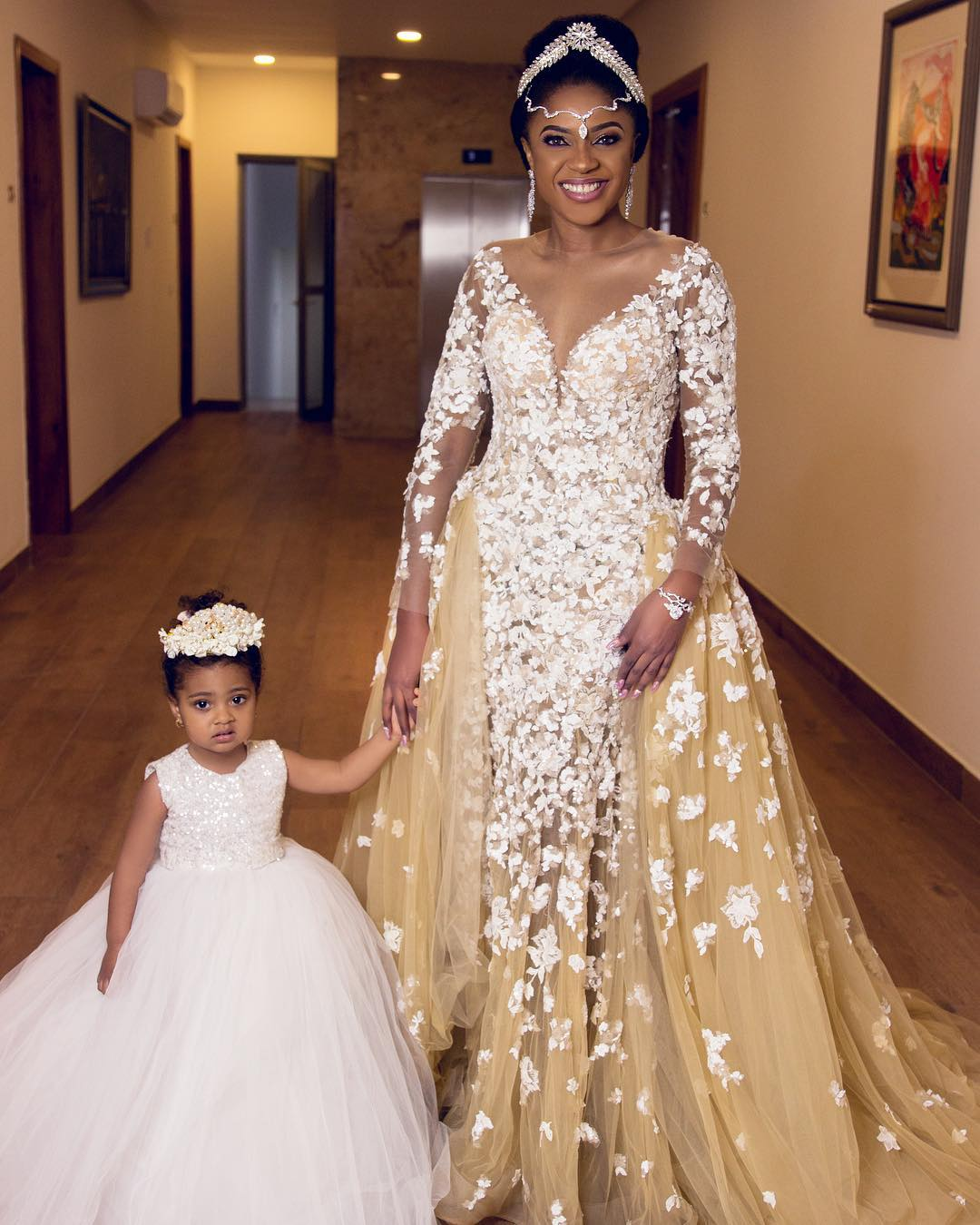 Nigerian Wedding Party: Nigerian Stars Turns Up In Their Arabian Inspired Dresses
