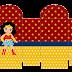 Mujer Maravilla Chibi: Cajas para Imprimir Gratis e Imprimbles Gratis para Fiestas.