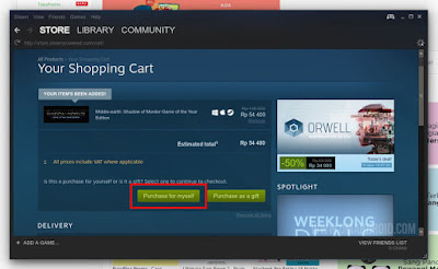 Purchase for myselft Steam