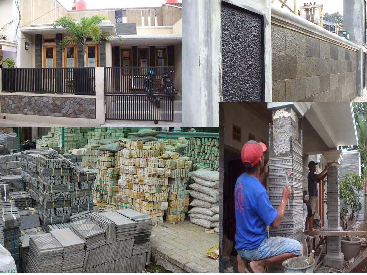 Rumah Minimalis Dengan Variasi Batu Alam Desain Rumah Minimalis