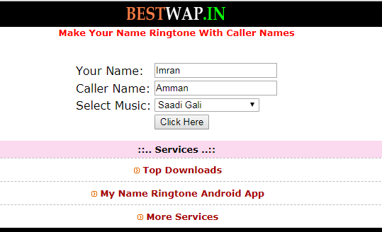 name ringtone music ke sath