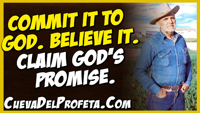 Commit it to Believe it Claim God's promise