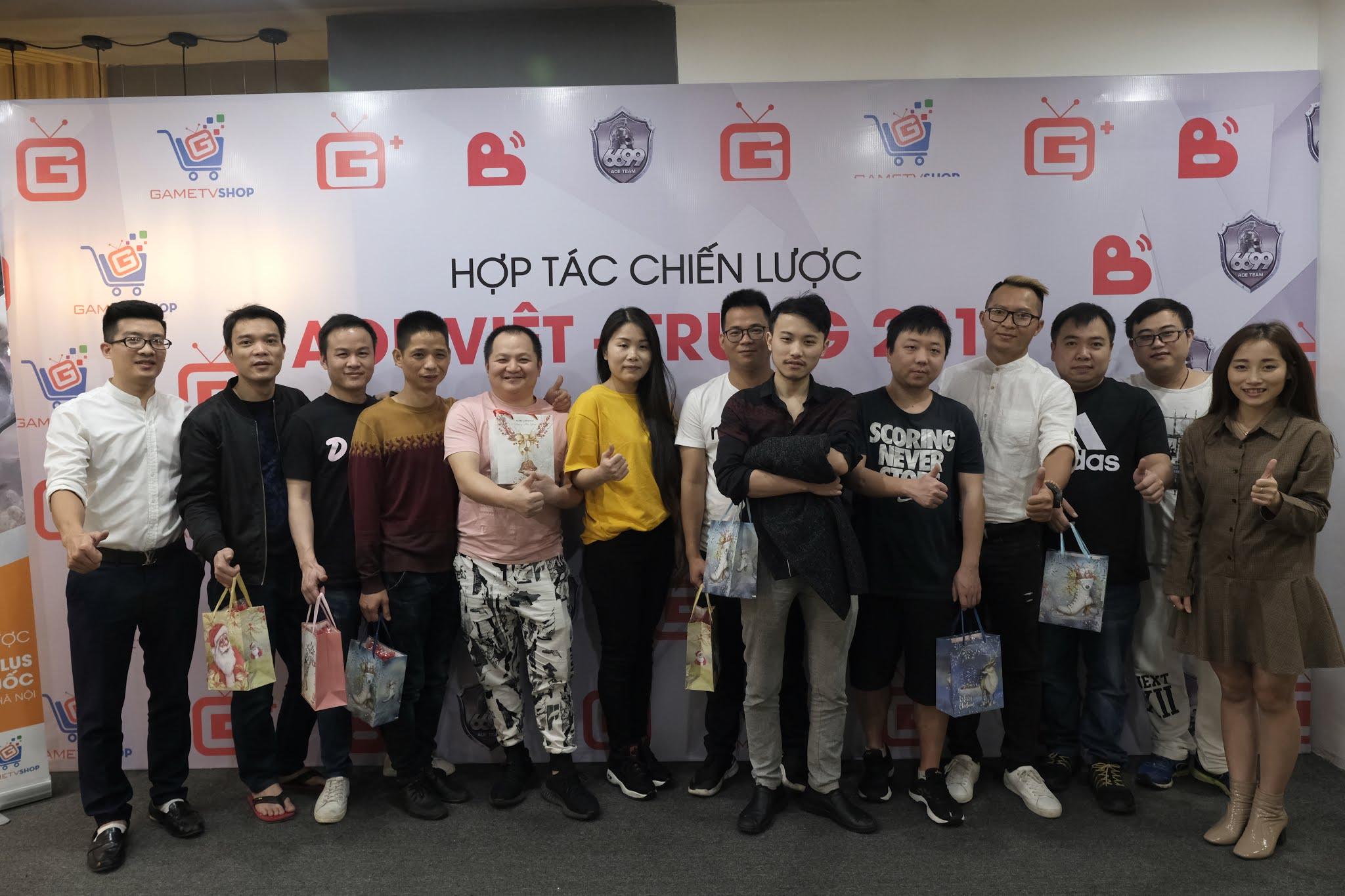 GameTV Shop trao quà lưu niệm đến các game thủ đến từ Trung Quốc