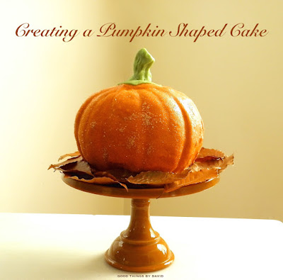 pumpkin shaped wedding cake things by david creating a pumpkin shaped cake 18839