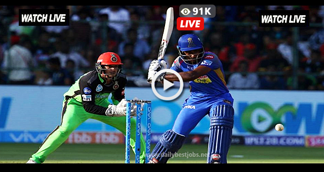 IPL 2018 RR vs RCB Live Streaming Online Cricket Scores