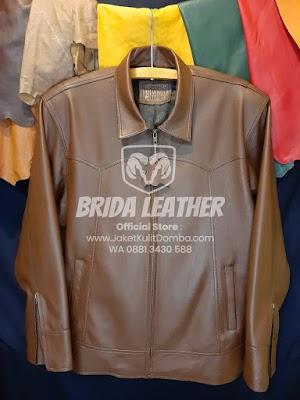 Jual Jaket Kulit Asli Garut Pria Domba Original Brida Leather M07 | WA 08813430588