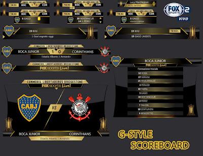 PES 2017 Libertadores Scoreboard Season 2016/2017 by G-Style