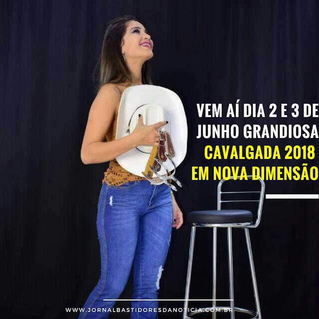 Alinne Marcial Rainha da Cavalgada 2018 de Nova Dimensão - RO