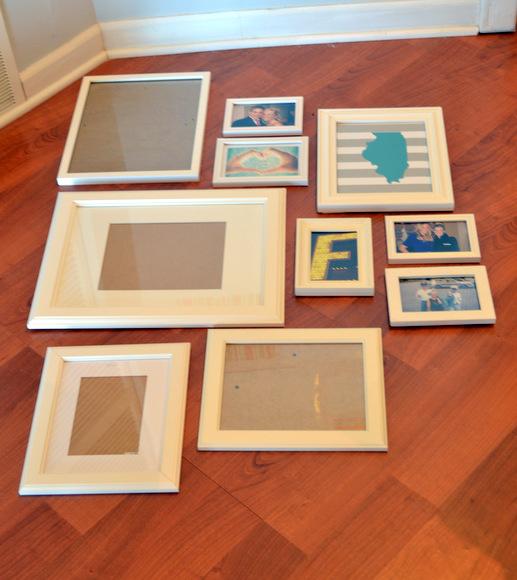 Lay frames on the floor