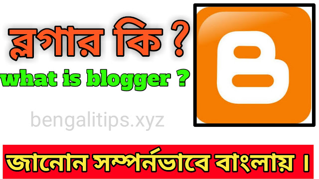 ব্লগার কি ? (What is blogger ?)