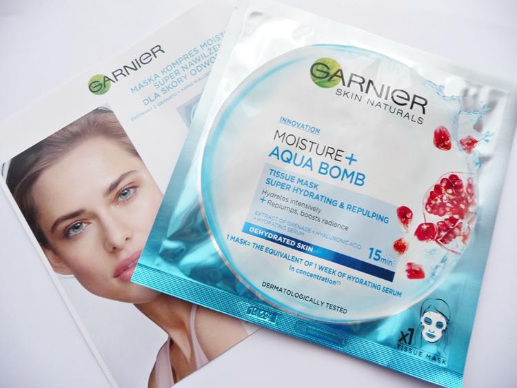 maska Garnier Moisture + Aqua Bomb