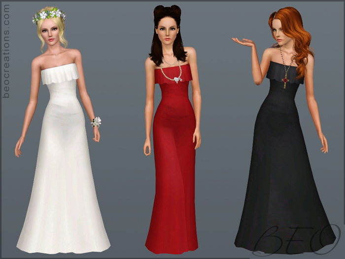My Sims 3 Blog: New Wedding Dresses By BEO