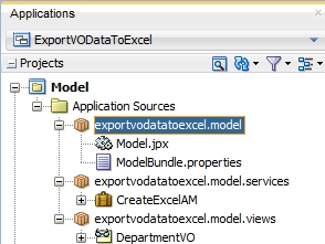 Export ViewObject data to Excel File Using Apache POI in