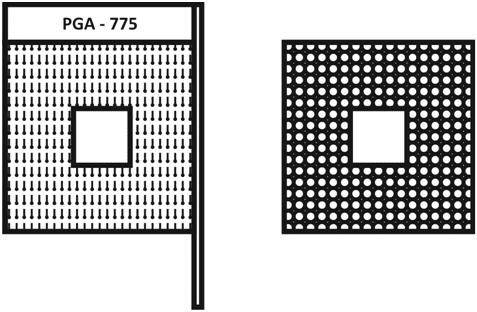 PGA – Pin gird array in Laptop