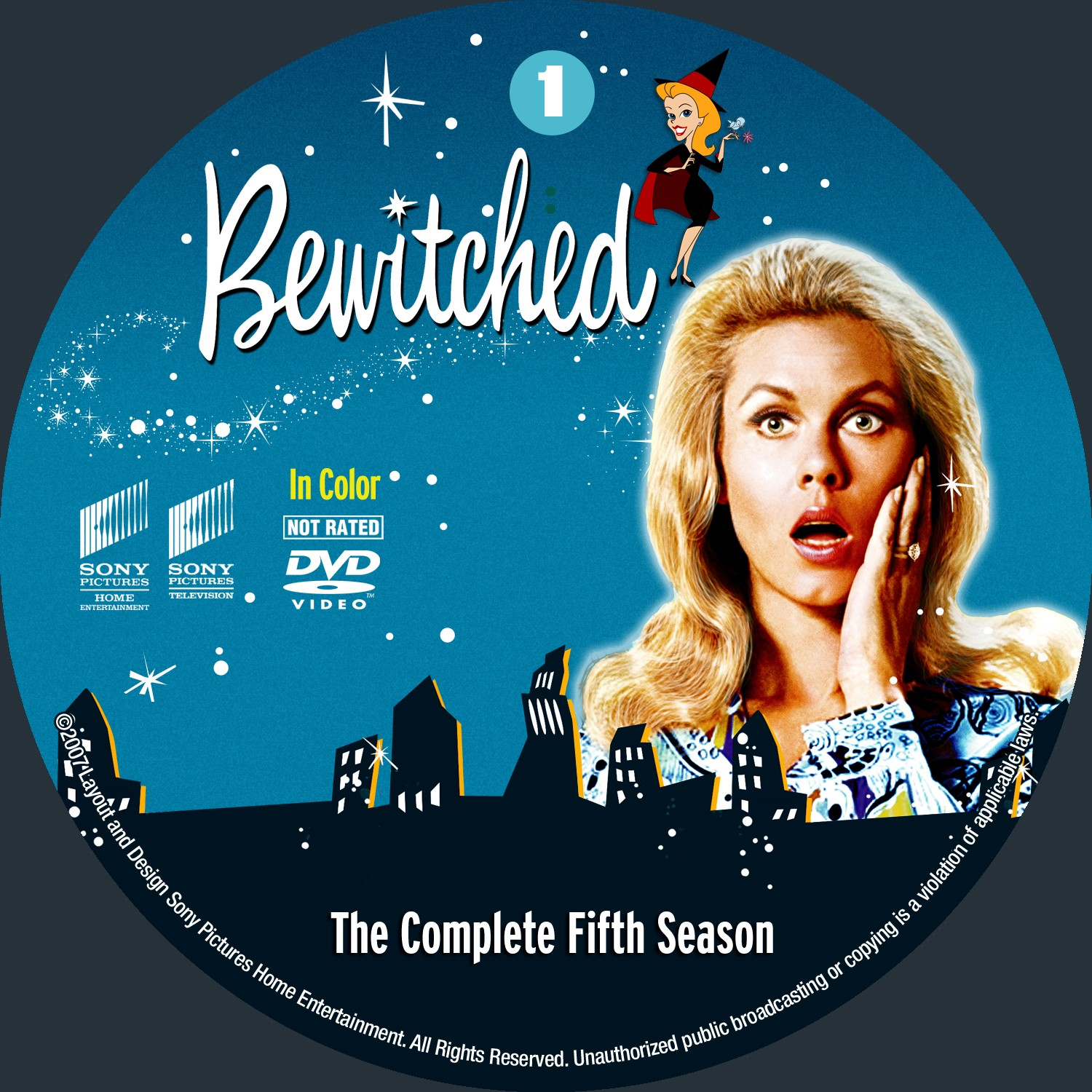 Bewitched Season 5 Disc 1-4 DVD Label