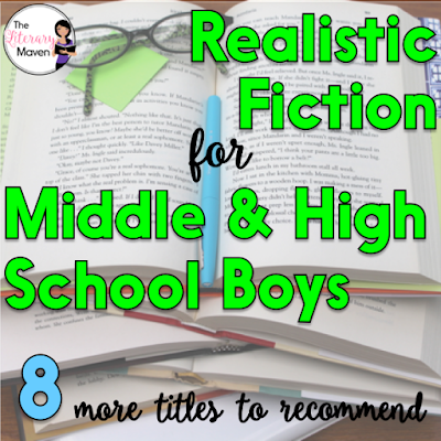 As a teacher, I am cautious about the messages the books in my classroom library send to students. Just as I don't want my shelves to be full of lovesick, helpless female characters, I don't want them to be full of overly macho, emotionless male characters either. Here's 8 titles, separated into middle school and high school, that I've recently read and would recommend for boys that portray a variety of male experiences.