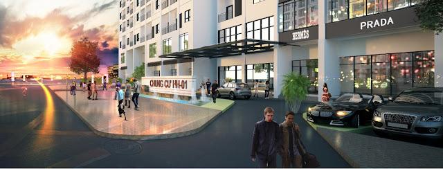 Trung tâm thương mại đáp ứng mọi nhu cầu cho cư dân.