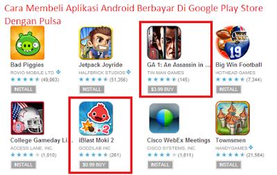 Cara Membeli Aplikasi Android Berbayar Di Google Play Store Dengan Pulsa