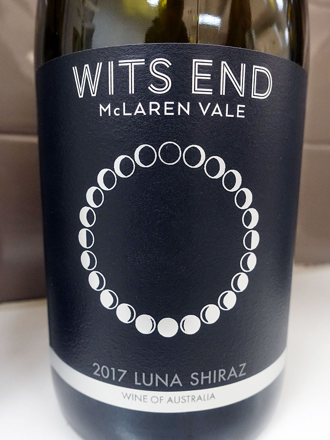 Wits End Luna Shiraz 2017 (88 pts)
