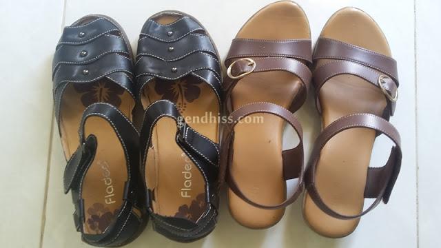 sepatu sandal untuk liburan