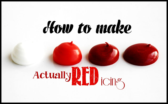 How do you make dark red icing? Find out here!