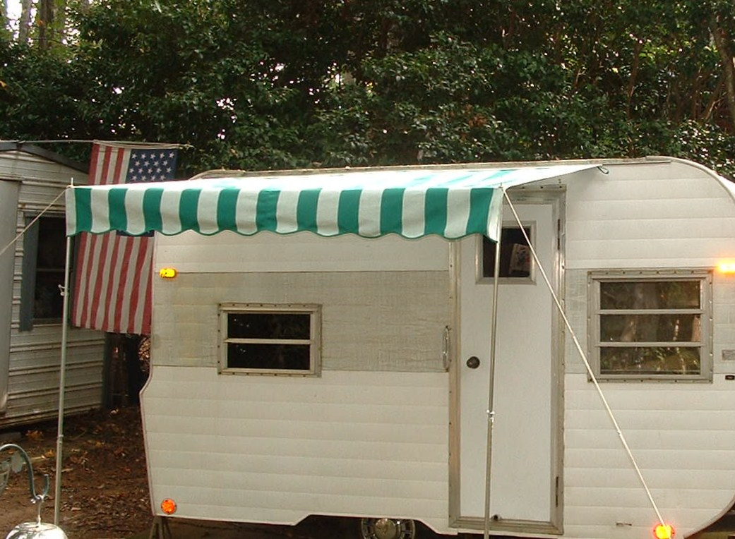 Vintage Trailer Awning Some Very Basic No Frills Bare Bones