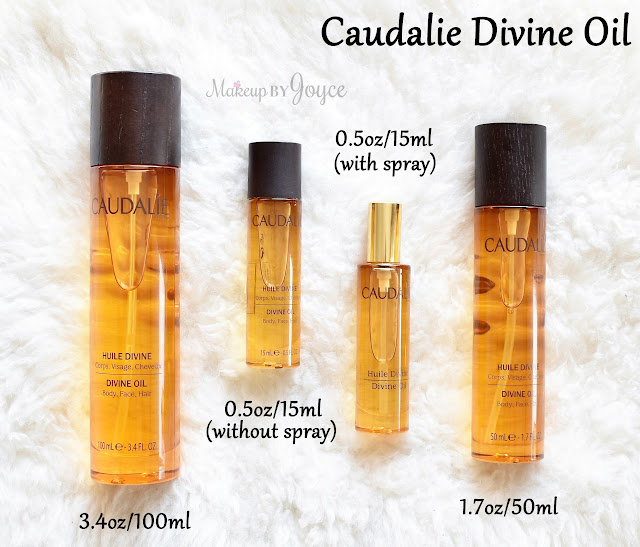Caudalie Divine Oil Review Spray Size 3.4oz 1.7oz 0.5oz
