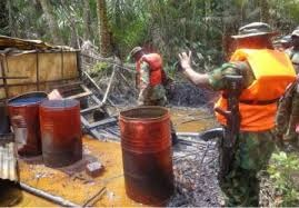 Soldiers storm Abia community, destroy illegal crude oil reservoir
