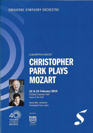 CHRISTOPHER PARK PLAYS MOZART / Singapore Symphony Orchestra / Review