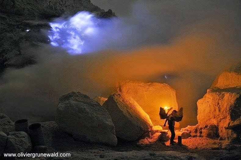 Kawah Ijen, The Volcano That Spews Blue Flames