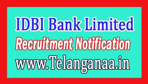 IDBI Bank Limited Recruitment Notification 2017