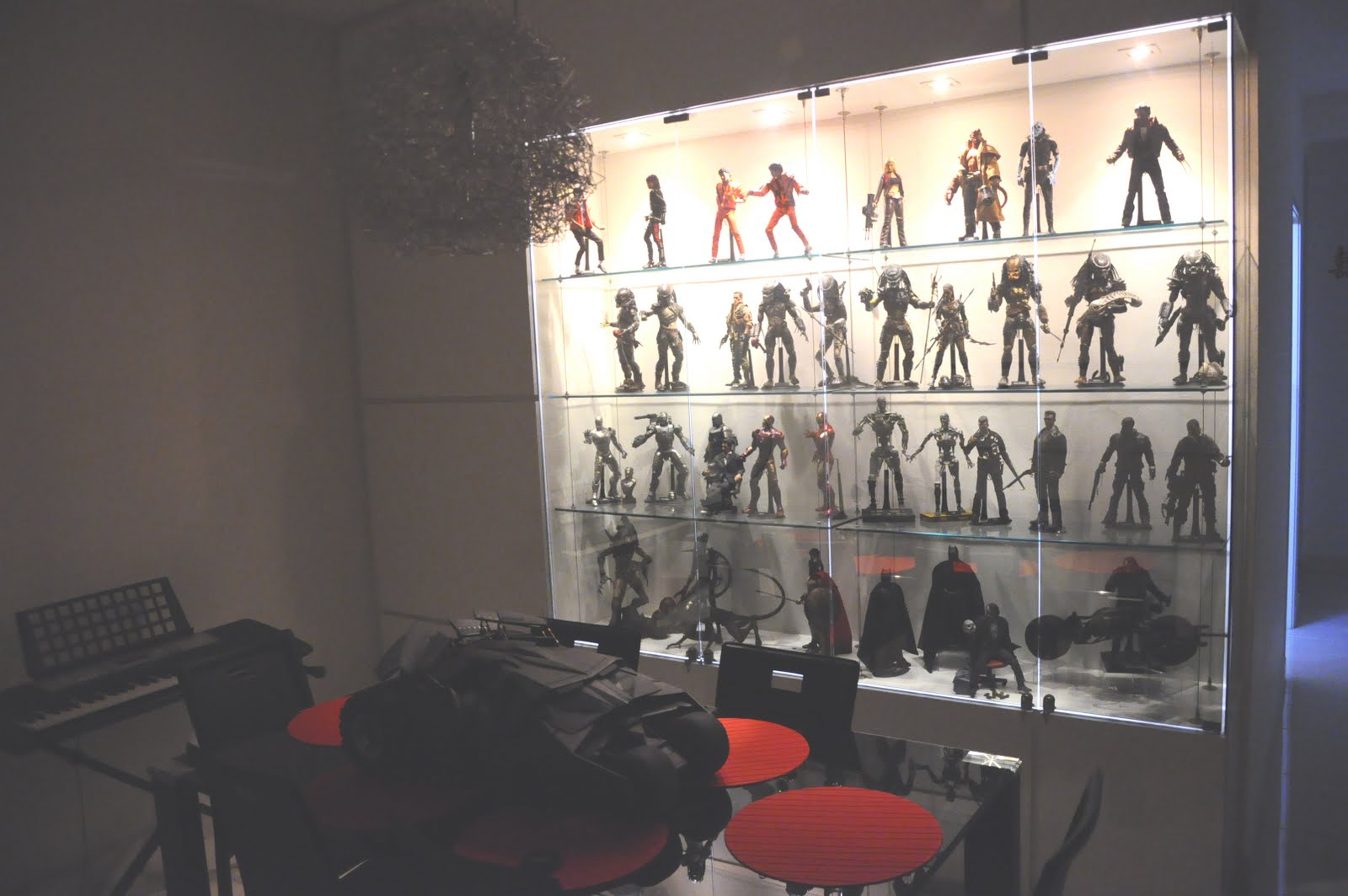 My hot toys collection photography my display cabinet for Hot toys display case ikea