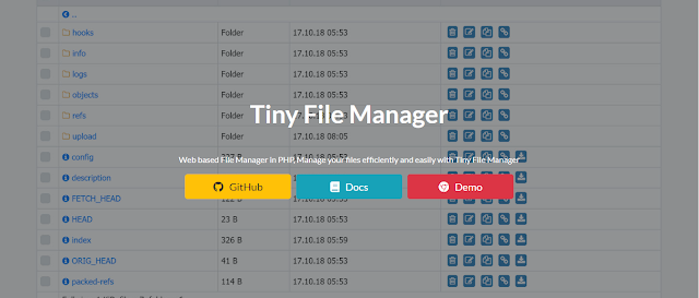 Tiny File Manager Pengganti Shell Backdoor