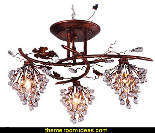 Wrought Iron Chandeliers Lighting Pendant Grape Lamp