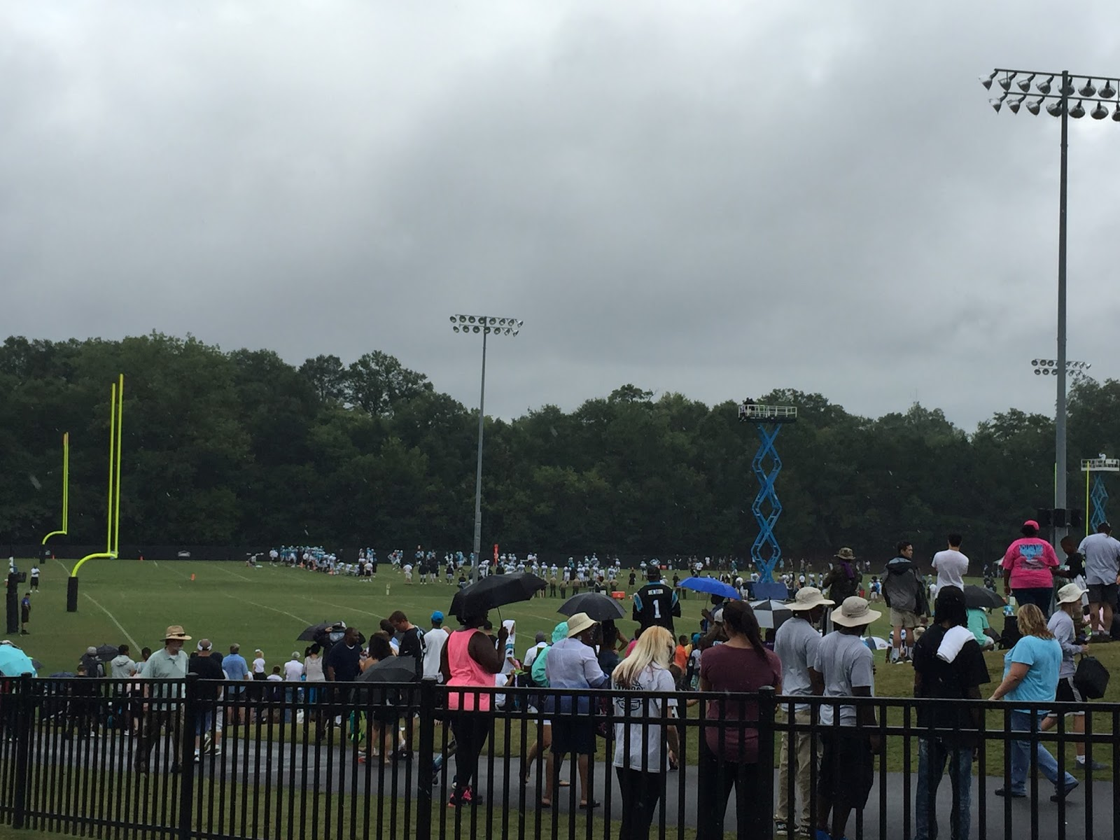 Gloria in excelsis deo carolina panthers training camp 2016 i had never been to the training camp before and was worried about crowd size when chris told me hed searched on the internet and learned that 20000 fans publicscrutiny Images