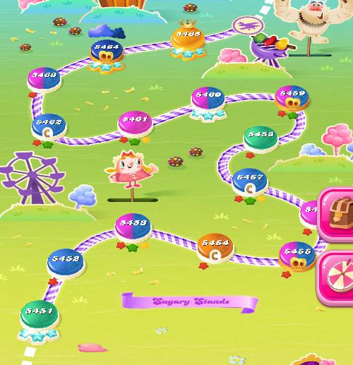 Candy Crush Saga level 5451-5465