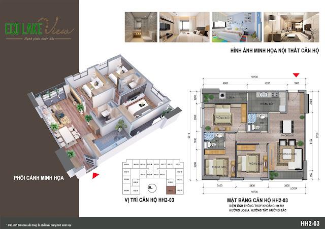 Căn hộ 03, diện tích 94m2 - 3 phòng ngủ