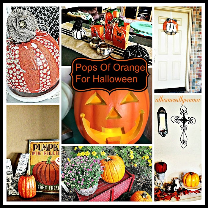 Pops Of Orange For Halloween