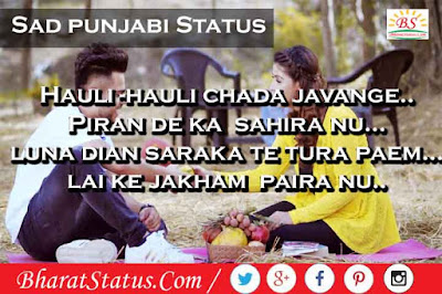 Sad Love status images in Punjabi