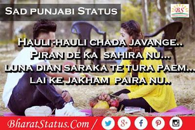 Sad Love status images in Punjabi