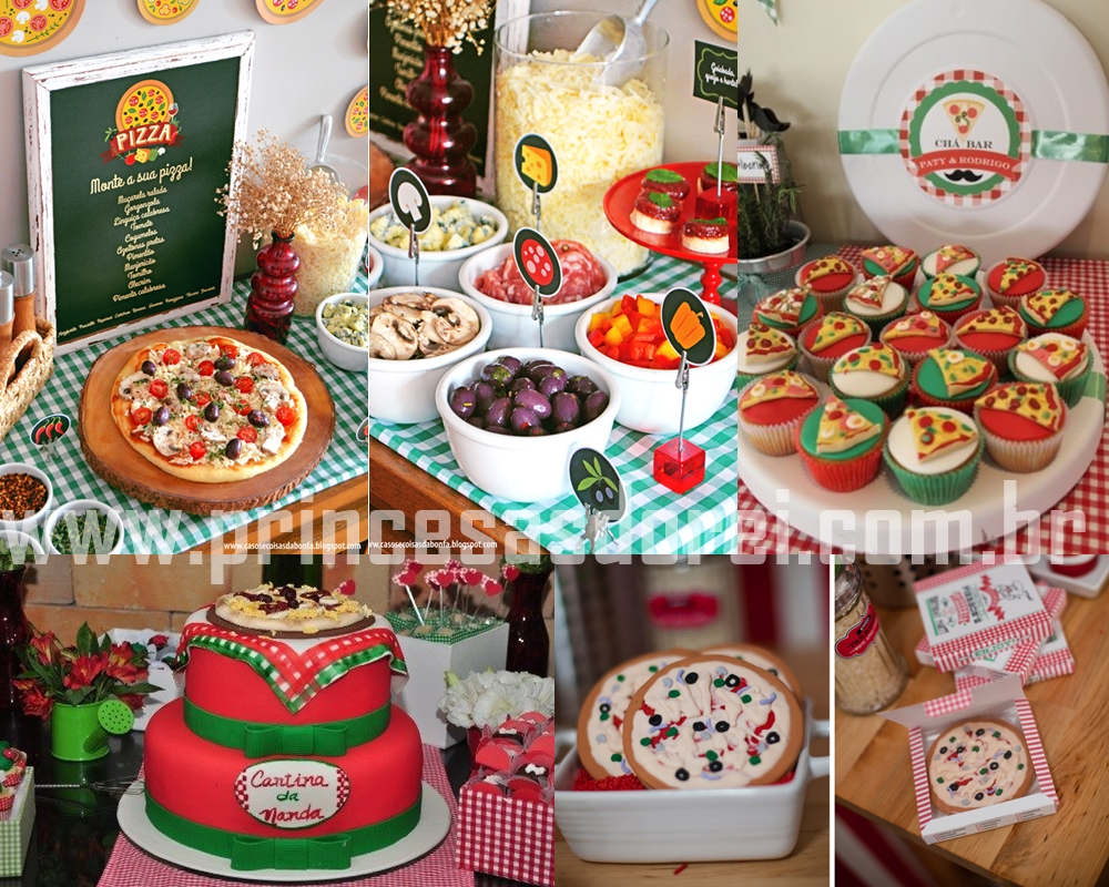 pizza catchup, festa da pizza monte sua pizza party bolo