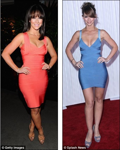 Spot The Difference Jennifer Eared Curvier Last Night L Than In March 2010 When She Wore A Similar Dress