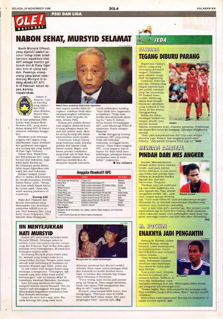 PSSI DAN LIGA INDONESIA V NABON SEHAT, MURSYID SELAMAT