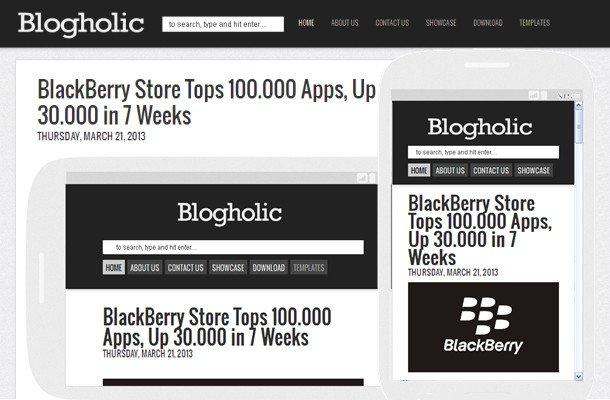 Blogholic - Simple Responsive 2 Column Blogger Template ...