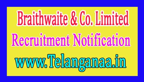 Braithwaite & Co. Limited Recruitment Notification 2016